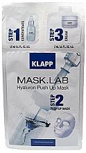 Parfums et Produits cosmétiques Masque tissu en 3 étapes à l'acide hyaluronique pour visage - Klapp Mask Lab Hyaluron Push Up Mask