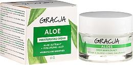 Parfums et Produits cosmétiques Crème de jour et nuit à l'extrait d'aloe vera et acide hyaluronique - Gracja Aloe Moisturizing Face Cream