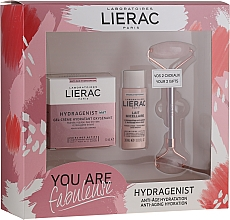 Parfums et Produits cosmétiques Coffret cadeau - Lierac Hydragenist (cr/50ml + f/milk/30ml + roller/1)