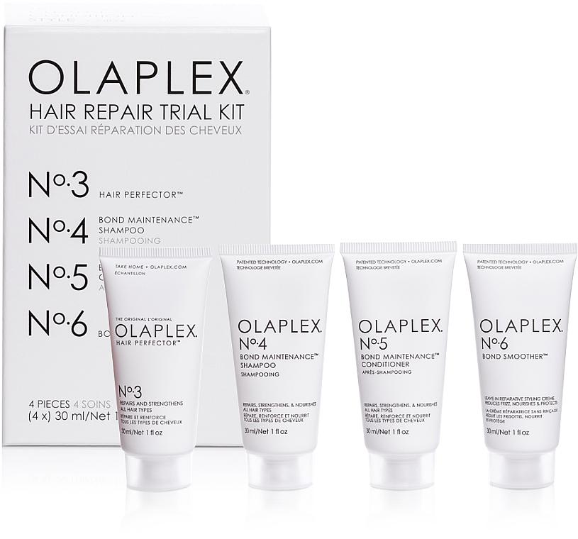Olaplex Hair Repair Trial Kit - Set (shampooing/30ml + après-shampooing/30ml + élixir/30ml + crème pour cheveux/30ml)