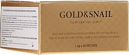 Parfums et Produits cosmétiques Patch hydrogel à la bave d'escargot et or pour contour des yeux - Petitfee & Koelf Gold & Snail Hydrogel Eye Patch