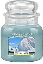 Parfums et Produits cosmétiques Bougie parfumée en jarre, Coton frais - Country Candle Cotton Fresh