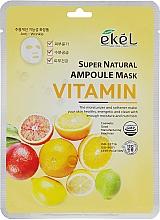Parfums et Produits cosmétiques Masque tissu aux vitamines pour visage - Ekel Super Natural Ampoule Mask Vitamin