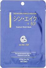 Parfums et Produits cosmétiques Masque tissu pour visage - Mitomo Essence Sheet Mask Syn-Ake + EGF