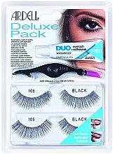 Parfums et Produits cosmétiques Faux-cils avec colle et applicateur - Ardell Eyelash 105 Deluxe Kit Black