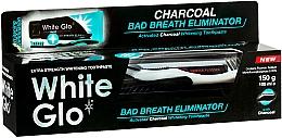 Parfums et Produits cosmétiques White Glo Charcoal Bad Breath Eliminator - Set(dentifrice/100ml + brosse à dents noir et blanc/1)