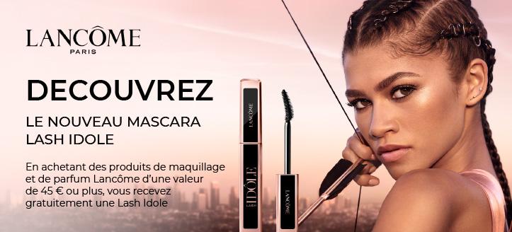 En achetant des produits de maquillage et de parfum Lancôme d'une valeur de 45 € ou plus, vous recevez gratuitement une Lash Idole