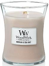 Parfums et Produits cosmétiques Bougie parfumée en jarre avec mèche en bois, Vanille et Sel marin - WoodWick Hourglass Candle Vanilla & Sea Salt