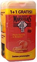 Parfums et Produits cosmétiques Le Petit Marseillais - Lot de deux gels douche à la pêche blanche et nectarine