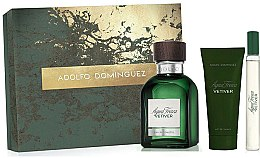 Parfums et Produits cosmétiques Adolfo Dominguez Agua Fresca Vetiver - Coffret (eau de toilette/120ml + baume après-rasage/75ml + eau de toilette/mini/20ml)