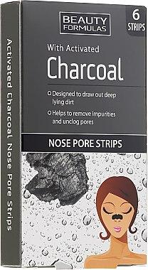 Patchs purifiants au charbon actif pour le nez - Beauty Formulas With Activated Charcoal Nose Pore Strips
