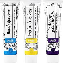 Parfums et Produits cosmétiques Anwen - Set revitalisant pour cheveux (après-shampooing, thé vert, iris et muguet /3x100ml)
