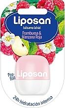 Parfums et Produits cosmétiques Baume à lèvres, Framboise et pomme rouge - Liposan Pop Ball
