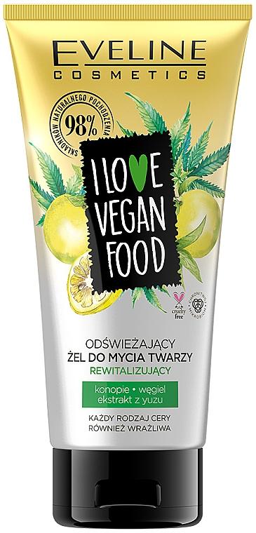 Gel nettoyant à l'huile de macadamia pour visage - Eveline I Love Vegan Food Face Wash Gel