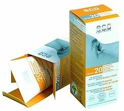 Parfums et Produits cosmétiques Crème solaire à l'argousier et olive pour peaux sensibles - Eco Cosmetics Suntan Cream SPF 20