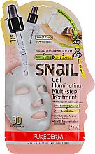 Parfums et Produits cosmétiques Masque en deux étapes aux cellules d'escargot pour visage - Purederm Snail Cell Illuminating Multi-step Treatment