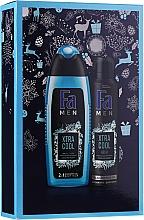 Parfums et Produits cosmétiques Fa Men Xtra Cool - Set (gel douche/250ml + déodorant spray/150ml)