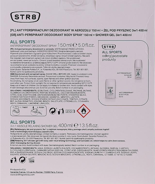 STR8 All Sport - Set (déodorant spray/150ml + gel douche/400ml) — Photo N6