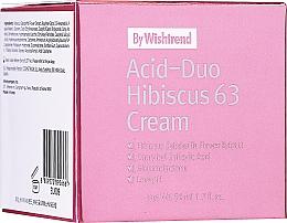 Parfums et Produits cosmétiques Crème aux acides et extrait de fleur d'hibiscus pour visage - By Wishtrend Acid-Duo Hibiscus 63 Cream