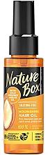 Parfums et Produits cosmétiques Huile à l'huile d'argan pressée à froid pour cheveux - Nature Box Argan Oil Nourishing Hair Oil