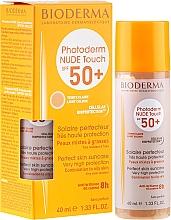 Parfums et Produits cosmétiques Crème solaire minérale teintée SPF 50+ - Bioderma Photoderm Nude Touch Golden Color Spf 50+