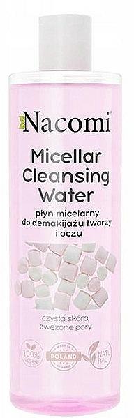 Eau micellaire pour visage et yeux - Nacomi Micellar Cleansing Water Marshmallow