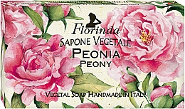 Parfums et Produits cosmétiques Savon végétal artisanal à la glycerine, Pivoine - Florinda Peony Natural Soap