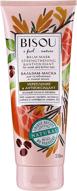 Baume-masque à l'extrait de pamplemousse pour cheveux - Bisou Balm-Mask Strengthening & Antioxidant