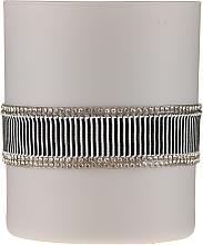 Parfums et Produits cosmétiques Bougie parfumée en verre, noir-gris, 8 x 9,5cm - Artman Crystal Glass