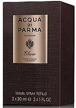 Parfums et Produits cosmétiques Acqua di Parma Colonia Ebano Travel Spray Refills - Eau de Cologne (2x30ml/recharges)