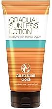Parfums et Produits cosmétiques Lotion autobronzante à la vitamine B et E pour corps - Australian Gold Gradual Sunless Lotion