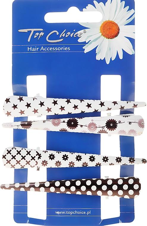 Barrettes à cheveux, 25099, noir-blanc - Top Choice