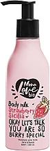 Parfums et Produits cosmétiques Lait à l'extrait de fraise pour corps - MonoLove Bio Strawberry Sicilia Body Milk