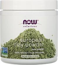 Parfums et Produits cosmétiques Argile en poudre pour visage - Now Foods Solutions European Clay