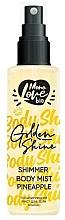 Parfums et Produits cosmétiques Brume scintillante pour corps, Ananas - MonoLove Bio Shimmer Body Mist Pineapple Golden Shine
