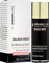 Parfums et Produits cosmétiques Sérum à l'acide hyaluronique contour des yeux - Arganicare Collagen Boost Anti Wrinkle Eye Serum