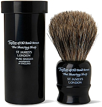 Parfums et Produits cosmétiques Blaireau de rasage avec boîte, 8,25cm, noir - Taylor of Old Bond Street Shaving Brush Pure Badger