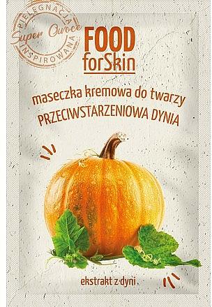 Masque à l'extrait de citroille pour visage - Marion Food for Skin Cream Mask Anti-age Pumpkin