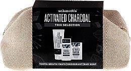 Parfums et Produits cosmétiques Schmidt's Activated Charcoal Trio Selection - Set (deo/58ml + savon/142g + dentifrice/100ml + trousse)