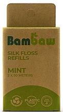 Parfums et Produits cosmétiques Fil dentaire en soie, Menthe - Bambaw (recharges)