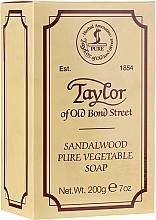 Parfums et Produits cosmétiques Savon végétal, Bois de santal - Taylor of Old Bond Street Sandalwood Soap