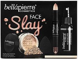 Parfums et Produits cosmétiques Coffret cadeau - Bellapierre Face Slay Kit Dark/Deep (stick/8.6g+powder/6.5g+spray/70ml+sponge/1pcs)
