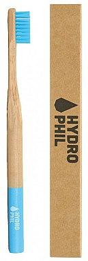 Brosse à dents en bambou biodégradable, medium, bleu - Hydrophil Bambus Toothbrush — Photo N2