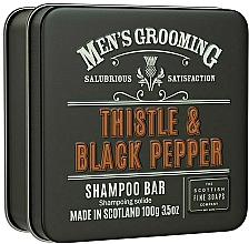 Parfums et Produits cosmétiques Shampooing solide à l'huile de chardon - Scottish Fine Soaps Mens Grooming Thistle & Black Pepper Shampoo Bar