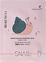Parfums et Produits cosmétiques Masque tissu au mucus d'escargot pour visage - Beauty Kei Micro Facialist Boosting Snail Essence Mask