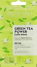 Parfums et Produits cosmétiques Masque au thé vert pour visage - Bielenda Green Tea Power Luffa Mask 2in1