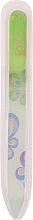Parfums et Produits cosmétiques Lime à ongles en verre avec imprimé floral, vert - Tools For Beauty Glass Nail File With Flower Printed