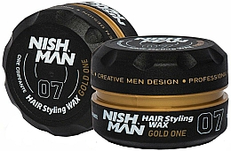 Parfums et Produits cosmétiques Cire coiffante - Nishman Hair Styling Wax 07 Gold One