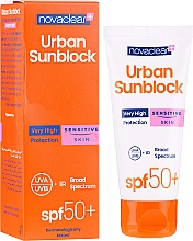 Parfums et Produits cosmétiques Crème solaire à l'extrait d'aloe vera pour visage - Novaclear Urban Sunblock Protective Cream Sensitive Skin SPF50