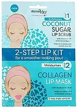 Parfums et Produits cosmétiques Masque-gommage en deux étapes pour lèvres - Derma V10 2 Step Lip Treatment Kit Coconut